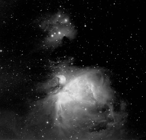 M42 in Halpha bei Vollmond